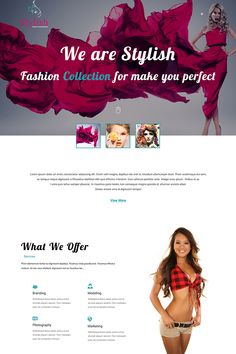 Stylish Models Photography PSD Template #PSD #Models #Stylish #Photography
