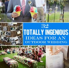 32 Totally Ingenious Ideas For An Outdoor Wedding #awwp