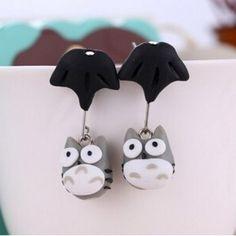 Handmade super cute polymer clay swing Totoro earrings. Youre Cute, Cute Polymer Clay, Japanese Street Fashion, Totoro, Kawaii, Jewellery, Christmas Ornaments, Holiday Decor, Earrings