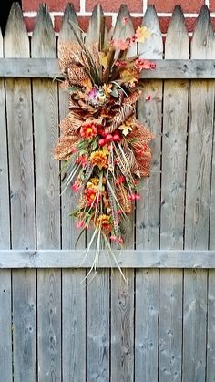 Autumn Door Swag by Sweet Lily's Garden, Fall Door Swag, Autumn Wreaths, Fall Wreaths and Swags, Thanksgiving Wreaths and Swags     W224