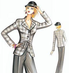 F2928 | Marfy Jacket | Jackets / Vests | Butterick Patterns