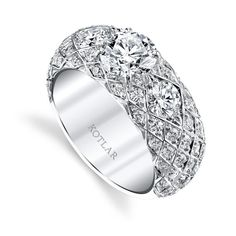 "THE Top Looks in Bridal Rings Next Year--All Here. With Pics, Too.: TWO-IN-ONE ENGAGEMENT ""BANDS"""