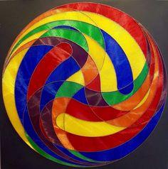 String art 100 x 100 cm. Geometric Sculpture, Sculpture Art, Wood And Metal, Red Wood, Orange Red, Blue Yellow, Geometric Shapes, Wood Art, Buy Art