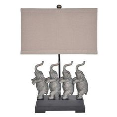 Cambridge Crestview Collection 26.5 in. Soft Silver and Table Lamp