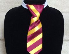Gryffindor Tie: Harry Potter Inspired Striped Tie and by SnappyPea