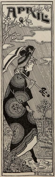 April  From Jugend: Munich illustrated weekly journal of art and life, 1896
