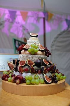 Cheese Tower Stack Cake Home Made Yellow Country Garden Wedding…