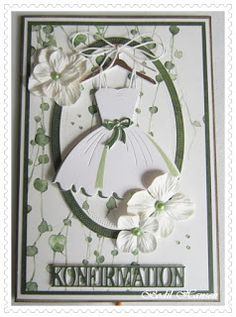 Dress Card, Designer Baby, Vintage Frames, Diy Cards, Communion, Birthday Cards, Projects To Try, December, Scrap