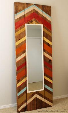 DIY Full Length Floor Mirror (Think Foyer)