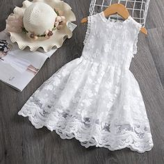 Girl Dress Kids Dresses For Girls Mesh Casual Lace Embroidery Princess Baby Girl. - - Girl Dress Kids Dresses For Girls Mesh Casual Lace Embroidery Princess Baby Girl Clothes Summer Sleeveless Dress Kids Clothes Source by maradelaluzsols Girls Lace Dress, Cute Girl Dresses, Girls Casual Dresses, Girls Summer Outfits, Toddler Girl Dresses, Little Girl Dresses, Baby Dress, Kids Outfits, Flower Girl Dresses