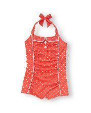 Super cute retro bathing suit for little girls. LOVE THIS. Janie & Jack