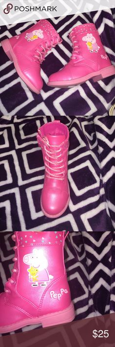 Pepa pig size 8 Pink peppa pig Peppa Pig Shoes Boots