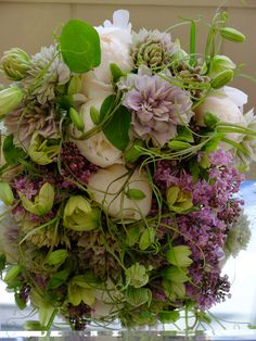 peony,clematis and lilac