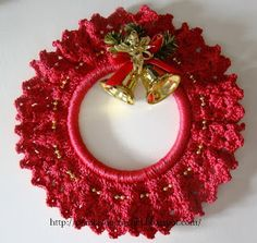 Best 9 Christmas decorations – Page 65935582030479209 – SkillOfKing. Crochet Christmas Ornaments, Christmas Crochet Patterns, Holiday Crochet, Christmas Knitting, Christmas Wreaths, Crochet Wreath, Crochet Crafts, Crochet Projects, Christmas Projects