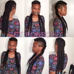 21 Cool & Creative Cornrow Hairstyles To Try Swag Hairstyles, Ghana Braids Hairstyles, Braided Mohawk Hairstyles, Mohawk Braid, Braided Updo, Black Girl Braids, Girls Braids, Ghana Braid Styles, Black Hair Magazine