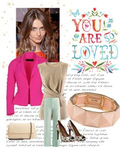 Pink blazer/mint julep pants - for the career woman in your life, just in time for Spring!