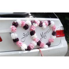 Deko Herzen Just Married zur Hochzeit Autodekoration