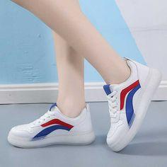 Women's #white blue casual shoe #sneaker stripe design Striped Shoes, Blue Shoes, Color Stripes, Stripes Design, Shoe Shop, Casual Shoes, Running Shoes, Shoes Sneakers, Sport