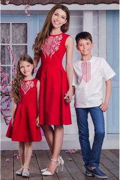 Сорочка дитяча для хлопчика з вишивкою • білий + червоний • придбати онлайн • vilenna.ua