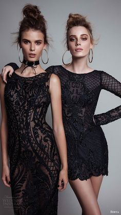 berta rtw fall 2017 (17 01 and17 04) black embellished evening dresses mv