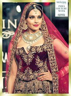 Bipasha Basu in statement bridal jewellery - Indian jewellery - Indian bride - Indian wedding #thecrimsonbride