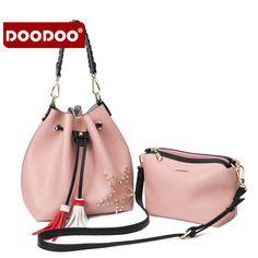 DOODOOO Women Handbags Soft PU Channel Ladies Shoulder Bags Baobao Japan and Korean Style Handbags Female Famous Brands