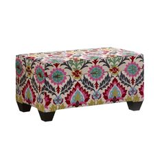 We love nothing more than a cool and clever storage solution, and this one might be our new favorite—a cushioned storage trunk that doubles as seating! A beautiful vivid floral pattern makes it a focal...  Find the Floral Storage Bench, as seen in the A Very Bohemian Holiday Home Collection at http://dotandbo.com/collections/styleyourseason-a-very-bohemian-holiday-home?utm_source=pinterest&utm_medium=organic&db_sku=SKY0016