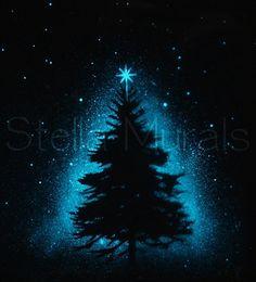 Glow in the Dark Luminous Star Poster  Christmas by StellaMurals, $45.00