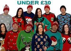Christmas Jumpers for under £30 available from http://www.christmasjumper.co.uk/