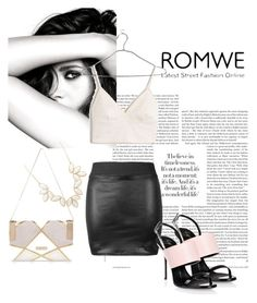 """""""Romwe"""" by merima-k ❤ liked on Polyvore featuring Chanel, River Island, Giuseppe Zanotti, Madewell and Charlotte Russe"""