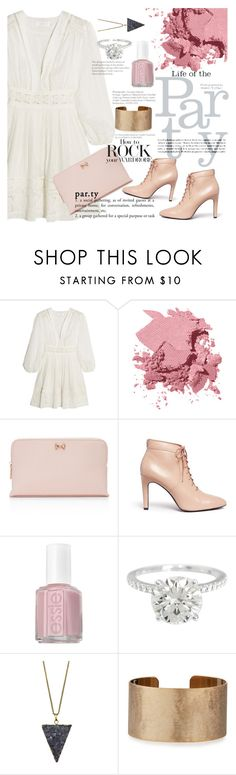 """""""Long sleeve dress:party"""" by nomikatz ❤ liked on Polyvore featuring Zimmermann, Bobbi Brown Cosmetics, Ted Baker, Opening Ceremony, Essie, Zara Taylor and Panacea"""