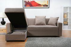 canapé beige en angle