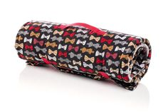 Boy Sleeping Mat, Nap Mat. Use for school, daycare, sleepovers. Bowties, Bow Ties, Hipster, Stud. Full Gray Minky Sized Blanket and Built in Pillow. USA Made by Elonka Nichole Designs www.elonkanichole.com