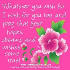 Whatever you wish for