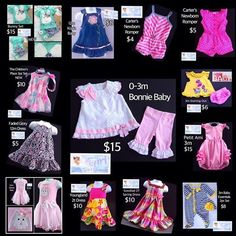 Just some of the CUTENESS we have available for your little princess.  Free Shipping with $30 Purchase.  Like Baby Girl Heaven.