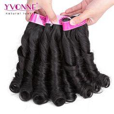 Grade 4A 100% Brazilian Candy Curl Virgin Hair Weave 1B Color