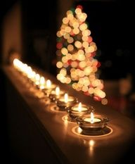 bokeh lights and candles