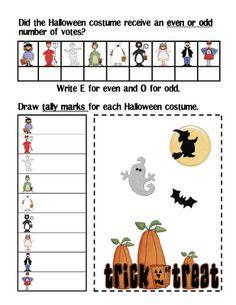 Fun Halloween math activities.  Great ideas.