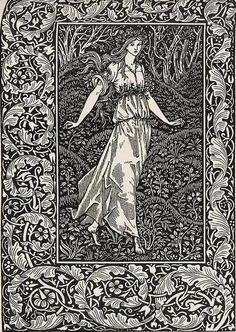 William Morris fantasy art nouveau