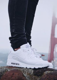 quality design 4e633 b6132 NIKE Air Max 90 All White nike airmax90 Nike Tights, Nike Boots,
