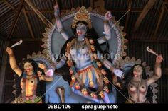 Kali Goddess of Destruction | 09bd106-Statue-of-Kali-Hindu-goddess-of-destruction-Village-of-Pouli ...
