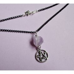 amethyst pentagram choker, gothic necklace, witch jewelry, grunge... ($13) ❤…