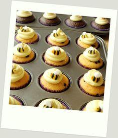 Project Nursery - Winnie the Pooh Birthday Party Cupcakes