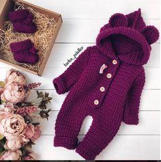 Crochet for baby Crochet Toddler, Baby Girl Crochet, Crochet For Boys, Knitting For Kids, Cute Crochet, Knit Crochet, Knitted Baby Outfits, Crochet Baby Sweaters, Knitted Romper