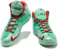 new arrival 95a69 dff7d ... Buy For Sale Nike Lebron Xi Ps, Xdr Mens Green White Printing Christmas  from Reliable  Nike LeBron 11 Michigan State ...