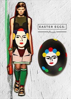 Prada Inspired Easter Egg! #Easter #EasterEgg #Fashion #LatestWrinkle