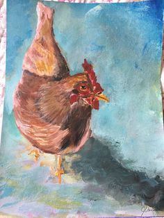 11 Chicken Rooster, Chicken, Painting, Animals, Art, Art Background, Animales, Animaux, Painting Art