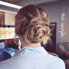 Bridal updo For more hair inspiration you can follow on Instagram @wb_upstyles