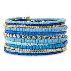Mixit™ Blue Coil Bracelet  found at @JCPenney
