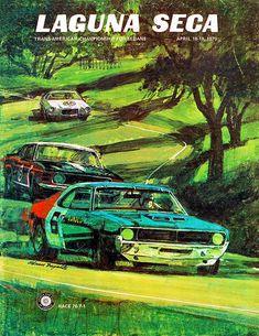 1970 Laguna Seca - Trans Am Championship for Sedans - Promotional Poster
